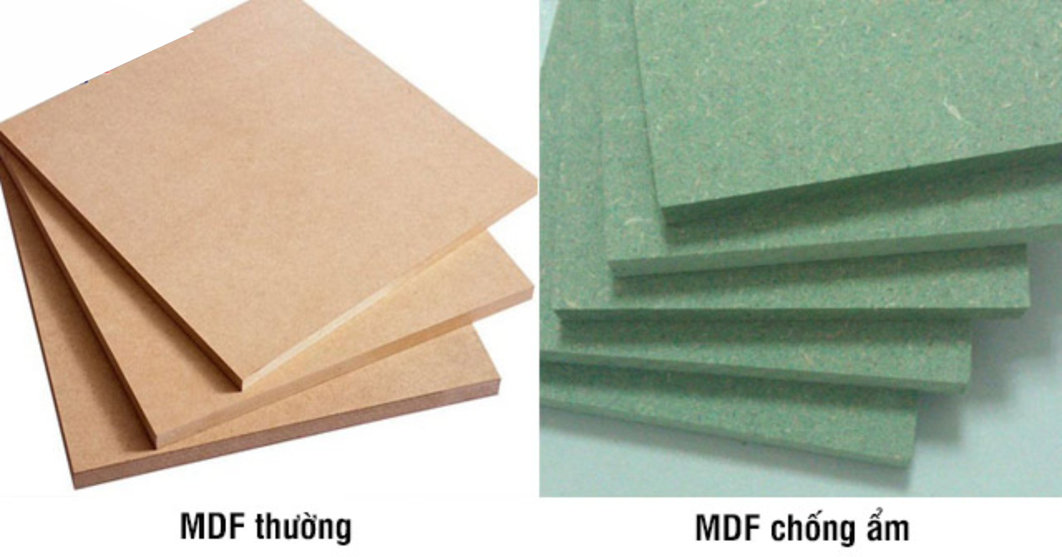 Gỗ công nghiệp MDF chống ẩm có khả năng chống nước tốt