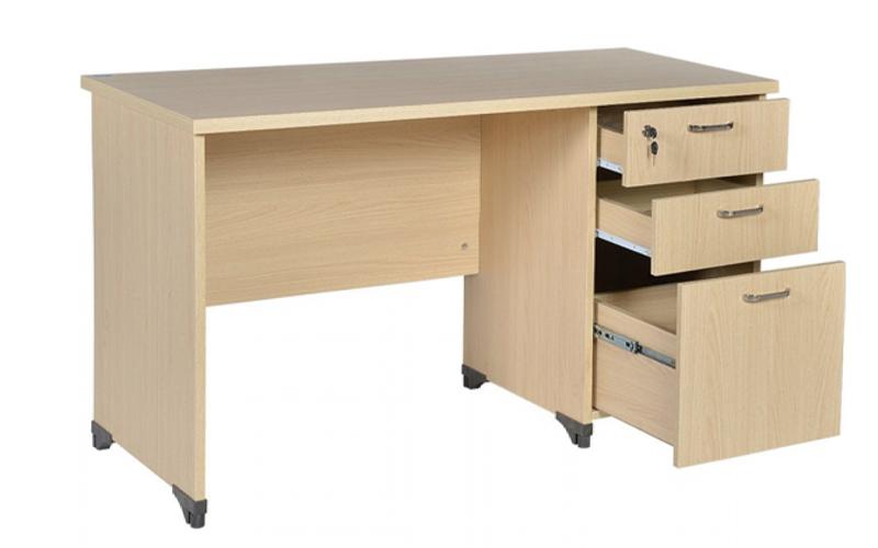 Mẫu bàn làm việc có hộc AT120SHL3D