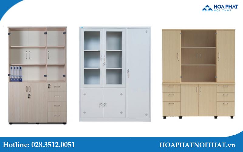 Tủ tài liệu đa dạng về chất liệu phủ và tông màu